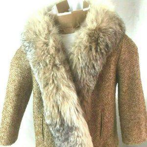 Vintage 1960s 70s GoGo Coat Jacket Genuine Fur